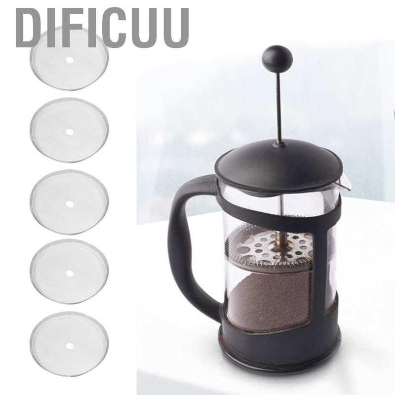 ตาข่ายกรองกาแฟ 80 สำหรับเครื่องทำกาแฟ แบบกด สไตล์ฝรั่งเศส 350 มล. 5 ชิ้น