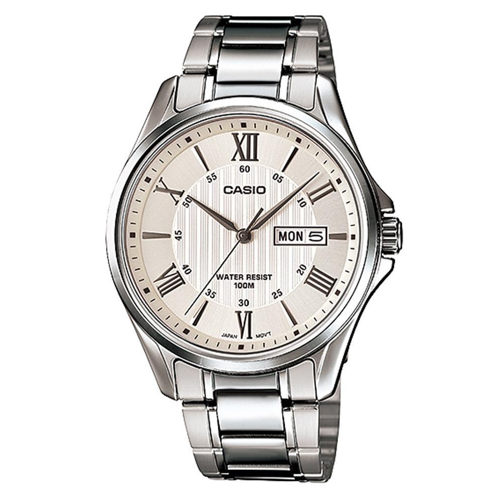 CASIO นาฬิกาข้อมือผู้ชาย สายสแตนเลส รุ่น MTP-1384D-7AVDF WJBq