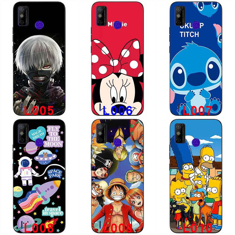Soft silicone painted print case Anime soft casing Protective shell Colorful Cartoon Pattern soft TPU Back cover For Tecno Spark 6 GO 6.52 '' handphone case