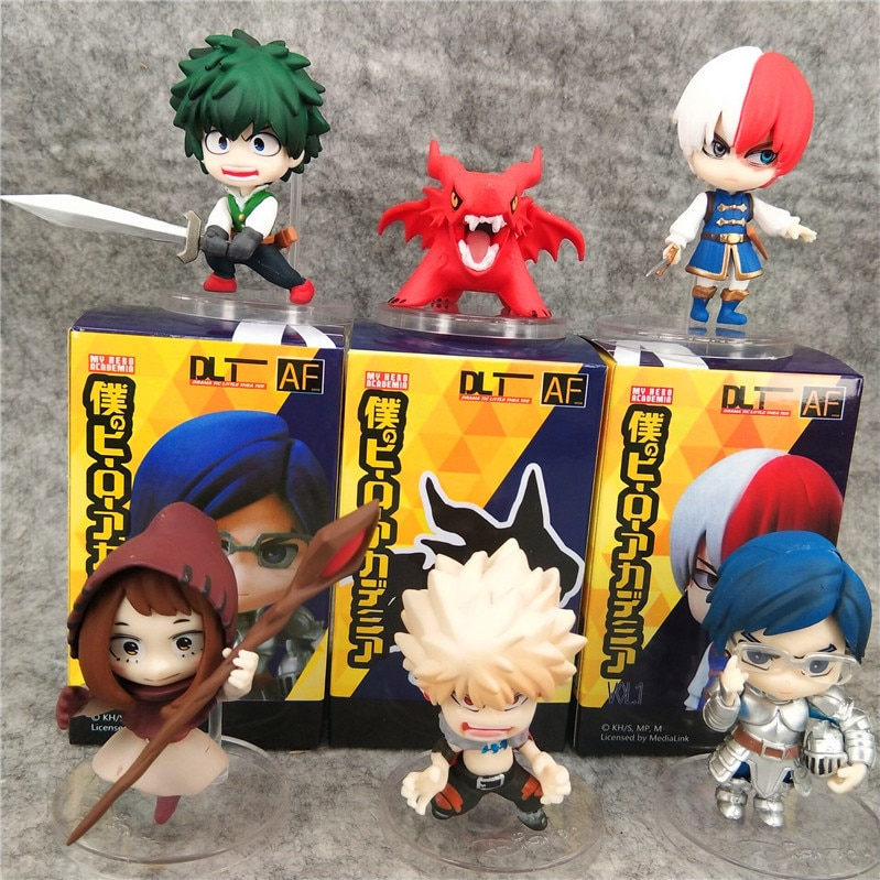 7CM My Hero Academy 6 Models Midoriya Izuku All Might Bakugou Katsuki Cute Doll Machine Casule Toy Garage Kit Figure Toy
