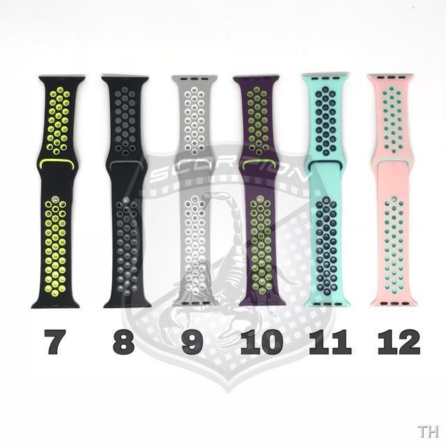 การเคลื่อนไหว✗▧✅✅✅☁🔥พิเศษ🇹🇭 สาย Apple Watch  Sport Band for Series 1,2,3,4,5,6