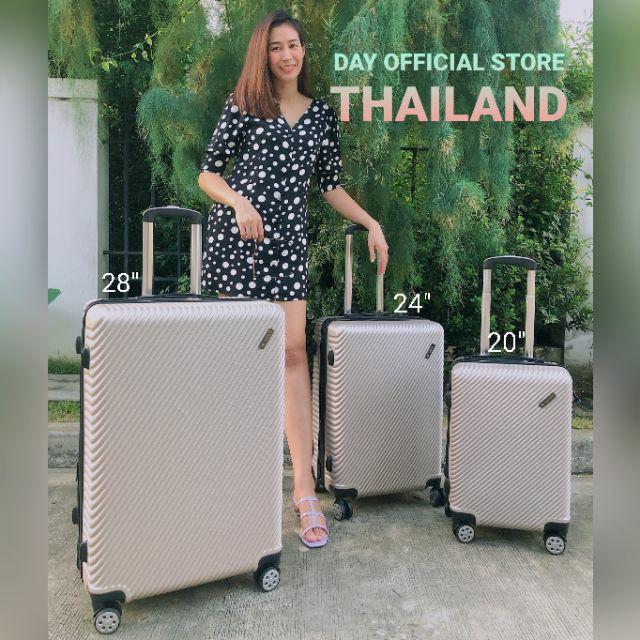 กระเป๋าเดินทาง 20 นิ้ว กระเป๋าเดินทาง ✔️✔️ถูกที่สุด✔️✔️ กระเป๋าเดินทาง 20นิ้ว 24นื้ว 28นิ้ว ABS แข็งแรง ทนทาน By DayO