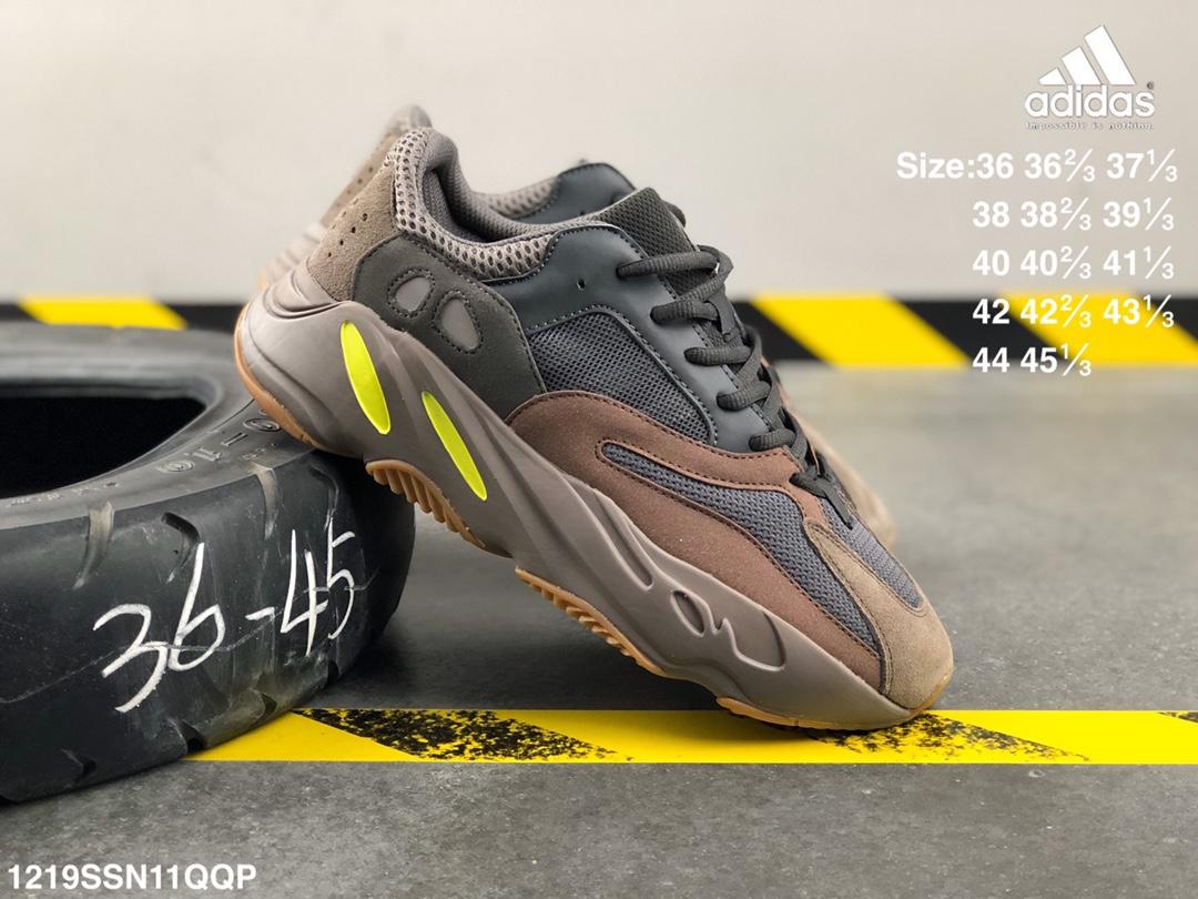 """อาดิดาส Adidas_Yeezy 700 """"Static"""" Kanye  casual shoes pink รองเท้า วิ่ง ของ แท้ รองเท้ากลางแจ้งอย่างดี"""
