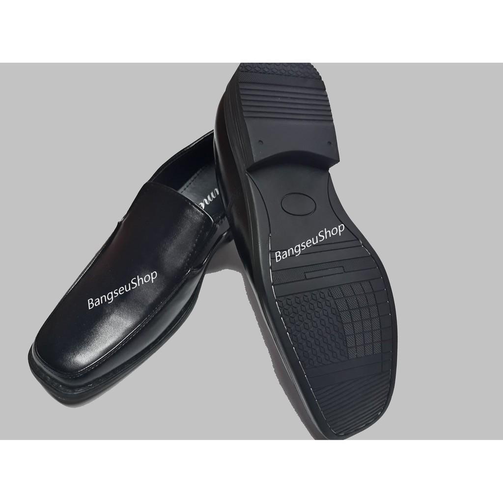 รองเท้าหนัง# รองเท้าหนังผู้ชาย รองเท้าคัชชู พื้นเย็บ สีดำ