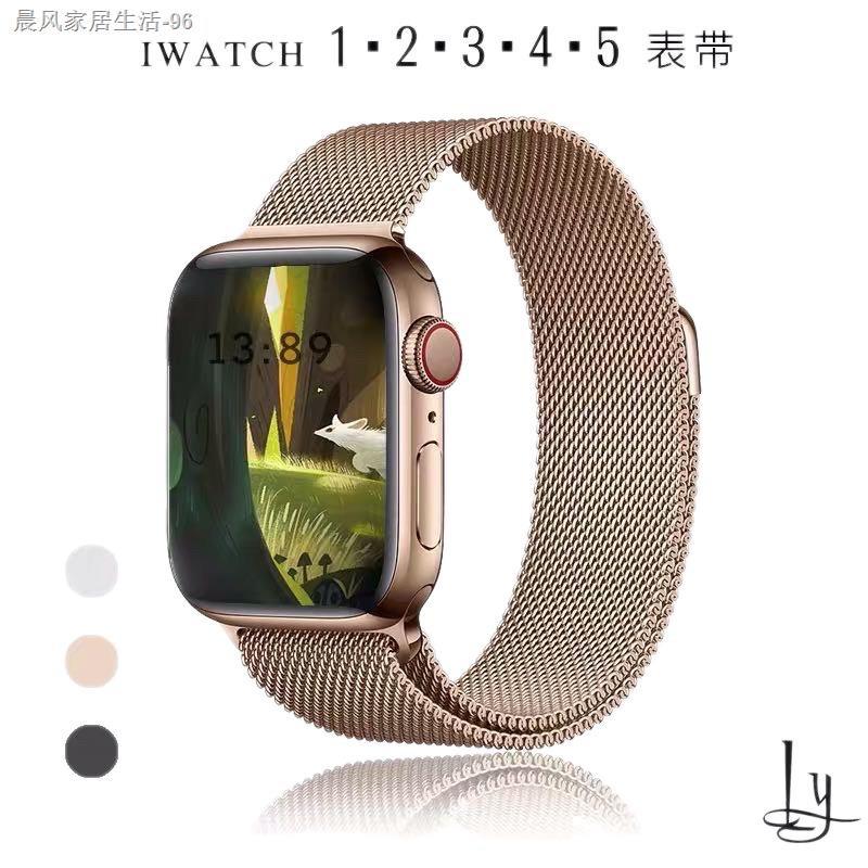 ✕☞สายเปลี่ยนนาฬิกาข้อมือ AppleWatch Band Milanese Loop Series 1 2 3 4 5 6 44 มม 40 มม 38 มม 42 มม สาย applewatch 6 se 4.