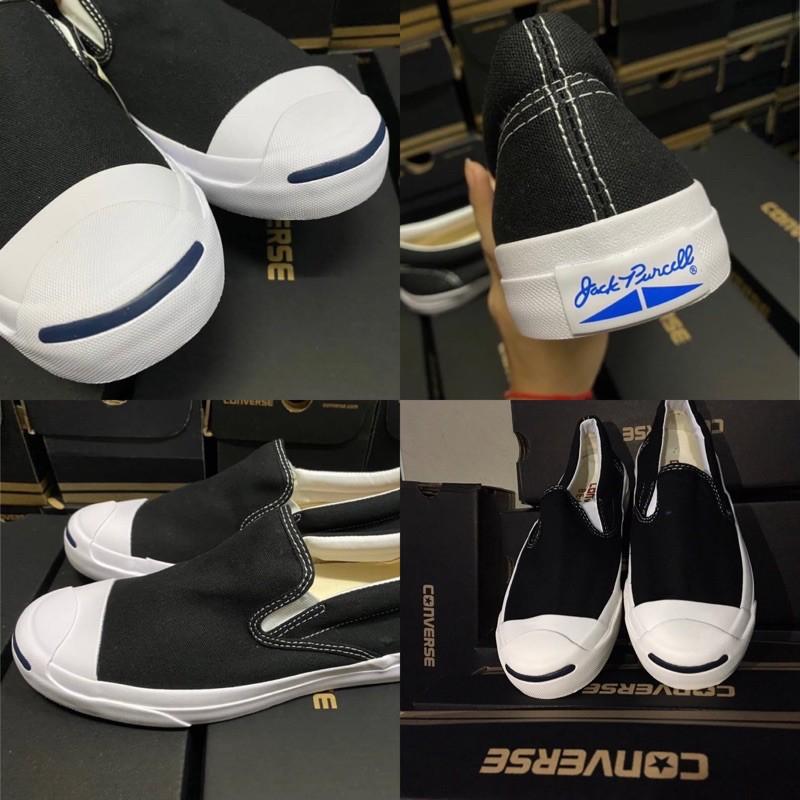 Converse Jack Slip On x Beams สีขาว/ดำ/กรม (พร้อมกล่อง)✅ชำระเงินปลายทางได้