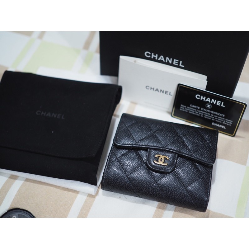chanel classic small flap wallet แท้100% holo 24 อะไหล่ทอง