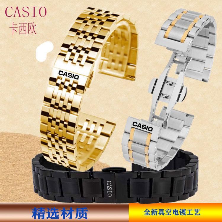 Casio สายนาฬิกาข้อมือสแตนเลส 1374Mtp1375/Vd01 Mdv106 สําหรับผู้ชายและผู้หญิง 22