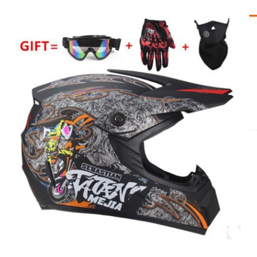 หมวกจักรยาน หมวกกันน็อคจักรยาน บุคลิกภาพสี่ฤดูกาลรถจักรยานยนต์ off-road ผู้ชายและผู้หญิงแบตเตอรี่รถยนต์หมวกก หมวกกันน็อค