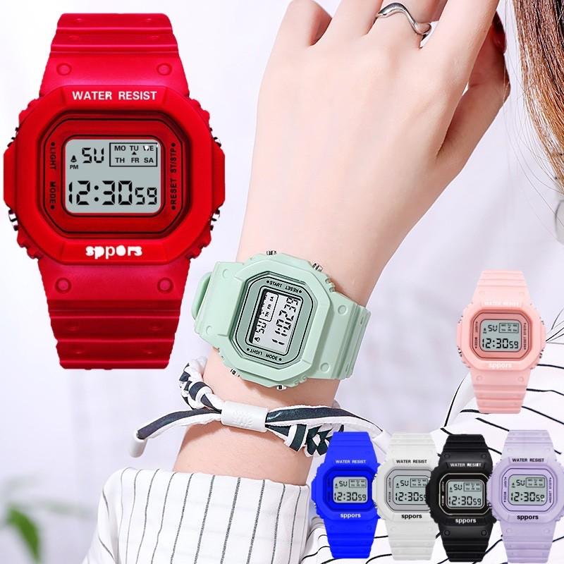 แฟชั่นผู้หญิงนาฬิกาข้อมืออิเล็กทรอนิกส์พร้อมไฟ Led กีฬา No.sb0308.