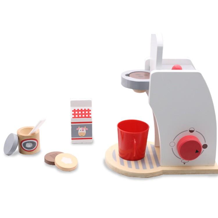 พร้อมส่ง ชุดเครื่องปิ้งขนมปังสีขาว ของเล่นเด็ก ชุดเครื่องทำกาแฟสีขาว ชุดเครื่องตีแป้งสีขาว เครื่องทำวาฟเฟิลสีขาว dZNw