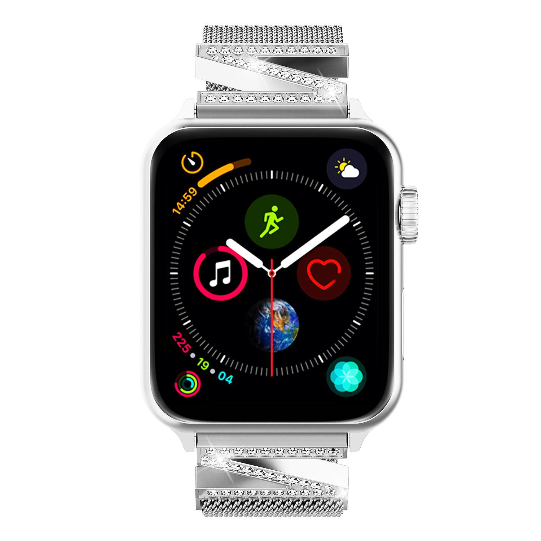 สายนาฬิกาข้อมือโลหะแม่เหล็กสําหรับ applewatch