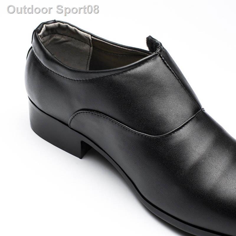 ✈รองเท้าหนังผู้ชาย BLACK (สีดำ) Men's Business Dress Shoes CUPual Wedding รองเท้าหนังชาย รองเท้าผู้ชาย รองเท้าคัชชู ผช