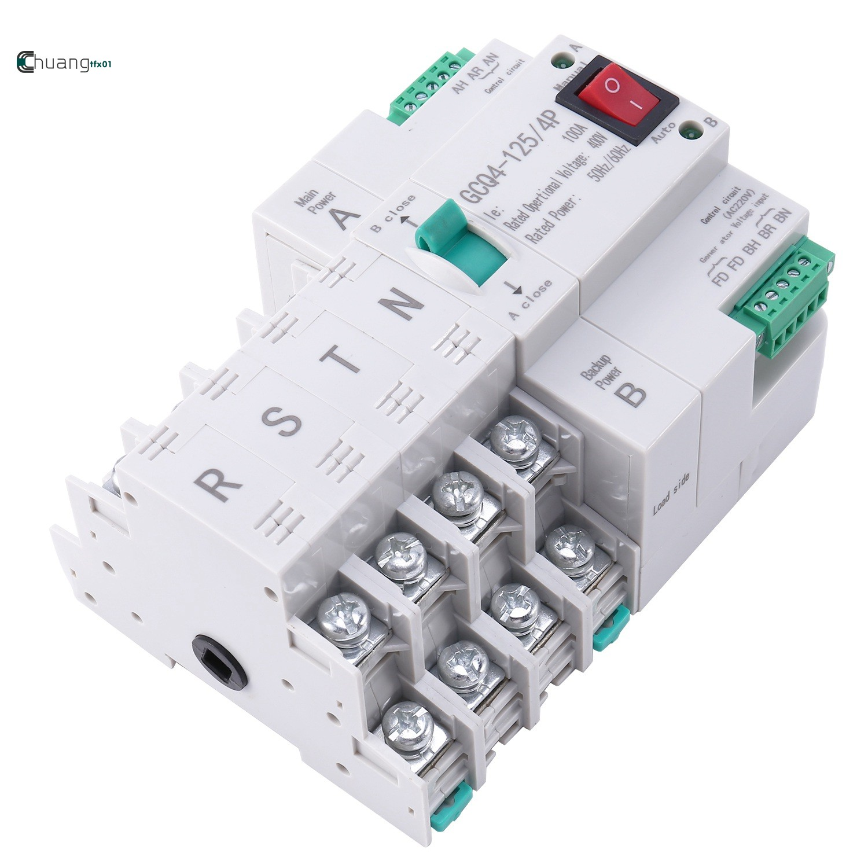POWER ATS Mcb Type Dual Power สวิทช์ไฟฟ้า 4 P 100 A Ats Circuit Breaker