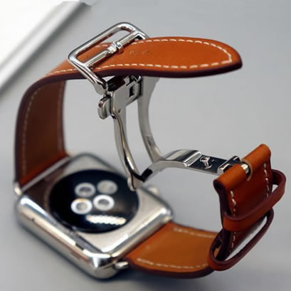CODWatch Bracelet For Apple Watch Seires 4 5 40-44mm Genuine Leather Strap For herm Apple Watch Band Series 1 2 3 iWatch