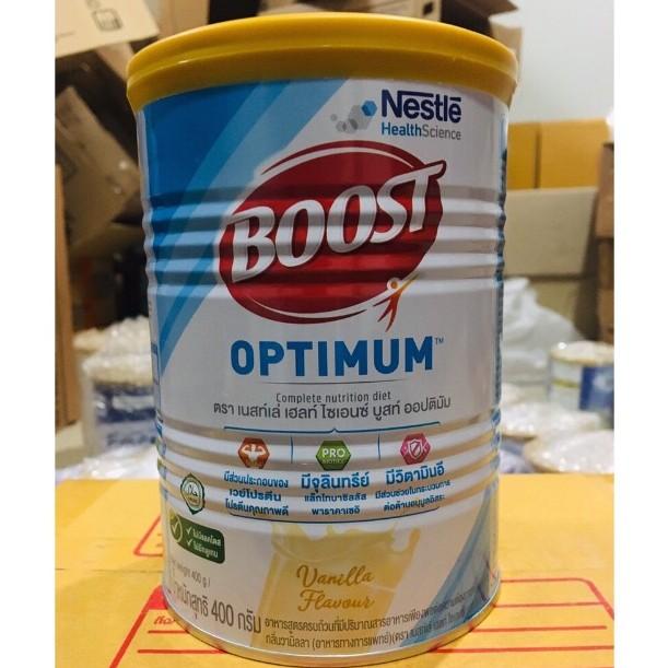 Nestle Nutren Boost Optimum อาหารเสริม นิวเทรน ออปติมัม 400 กรัม Exp. 1/10/2022