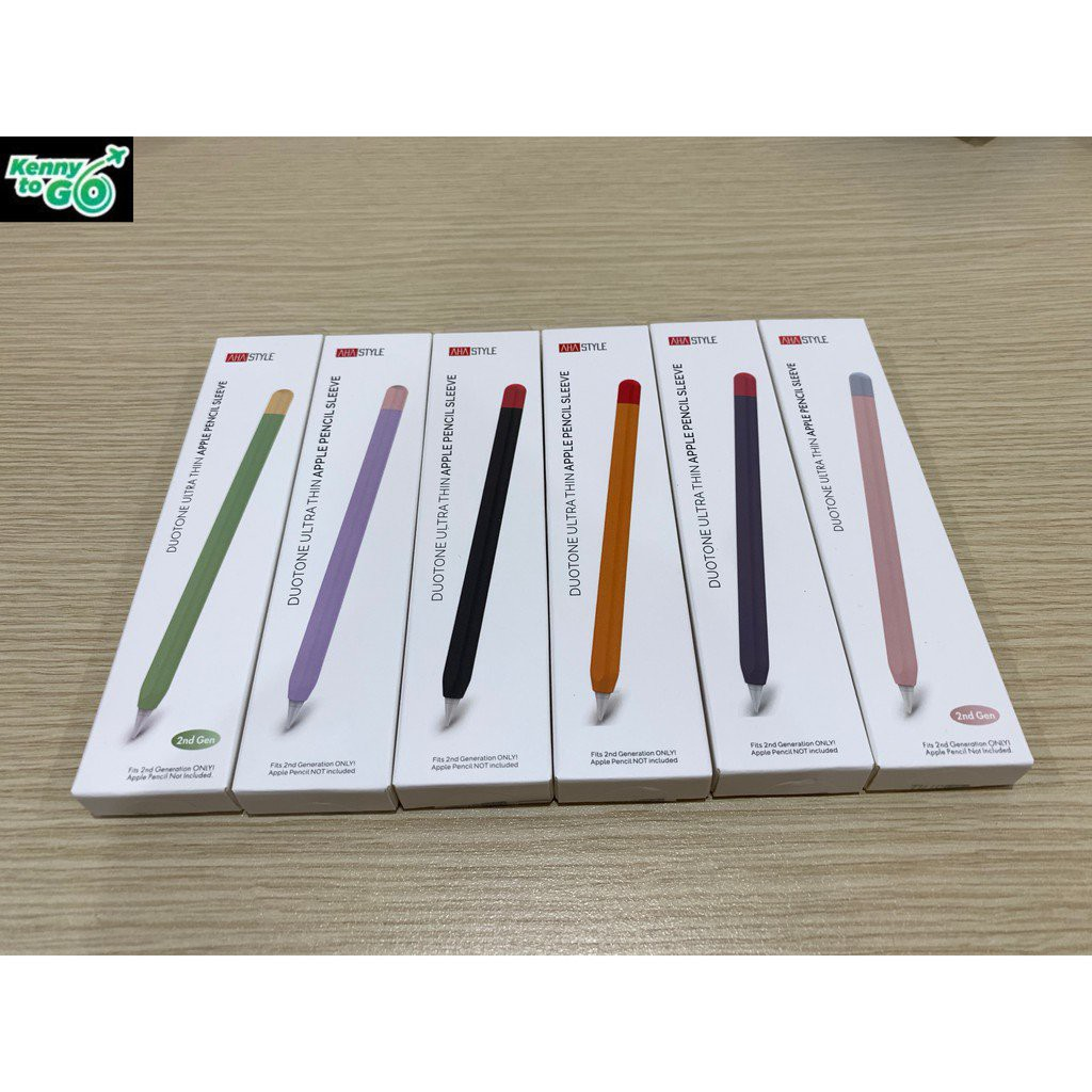 RI6F Ốp Case Apple Pencil 2 Silicone Cao Cấp Kiểu Bút Chì Chính Hãng Thương Hiệu AHA STYLE