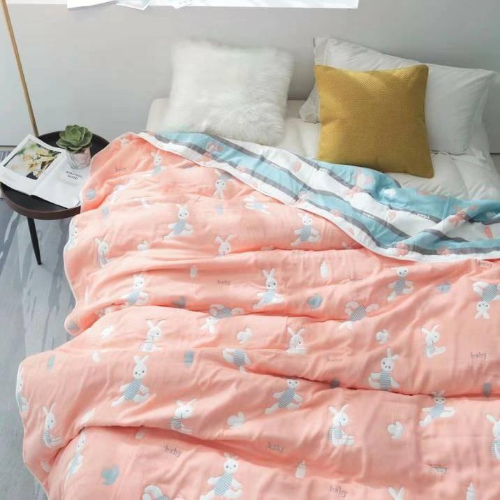 ผ้าห่มสาลู 6 ชั้น ไซส์ 5 ฟุต
