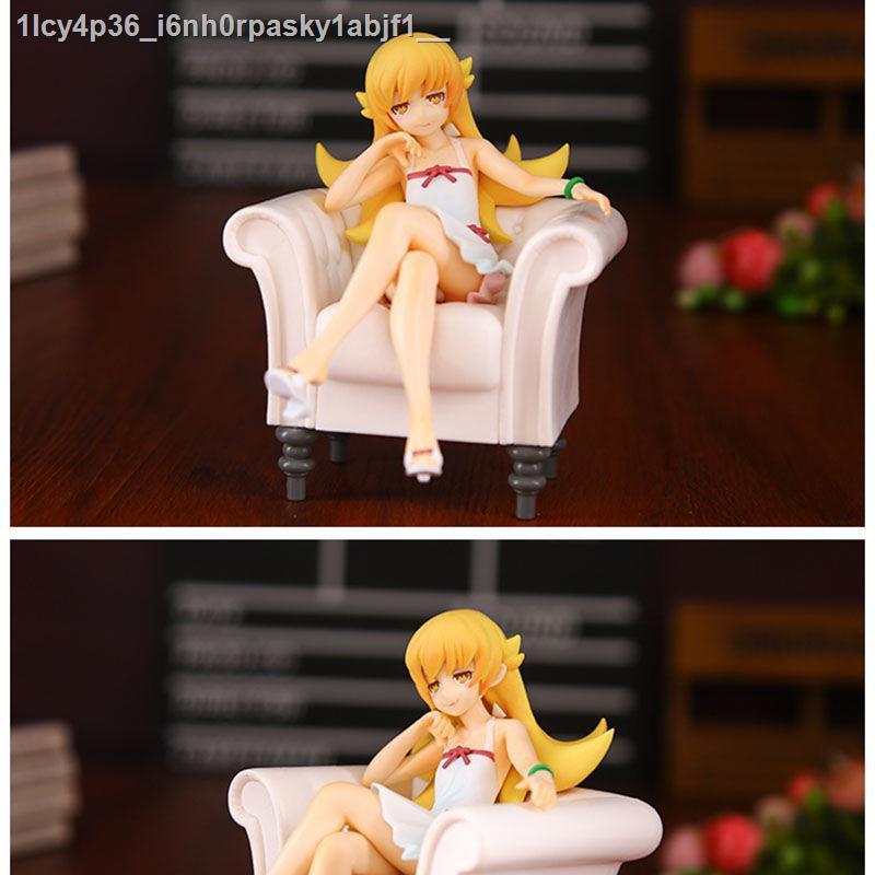 อะนิเมะAnime►◑เบเกอรี่ Oshino Shinobu โซฟารูปนั่งตำแหน่งที่นั่งสีบลอนด์ loli รุ่นตุ๊กตาอะนิเมะตกแต่ง