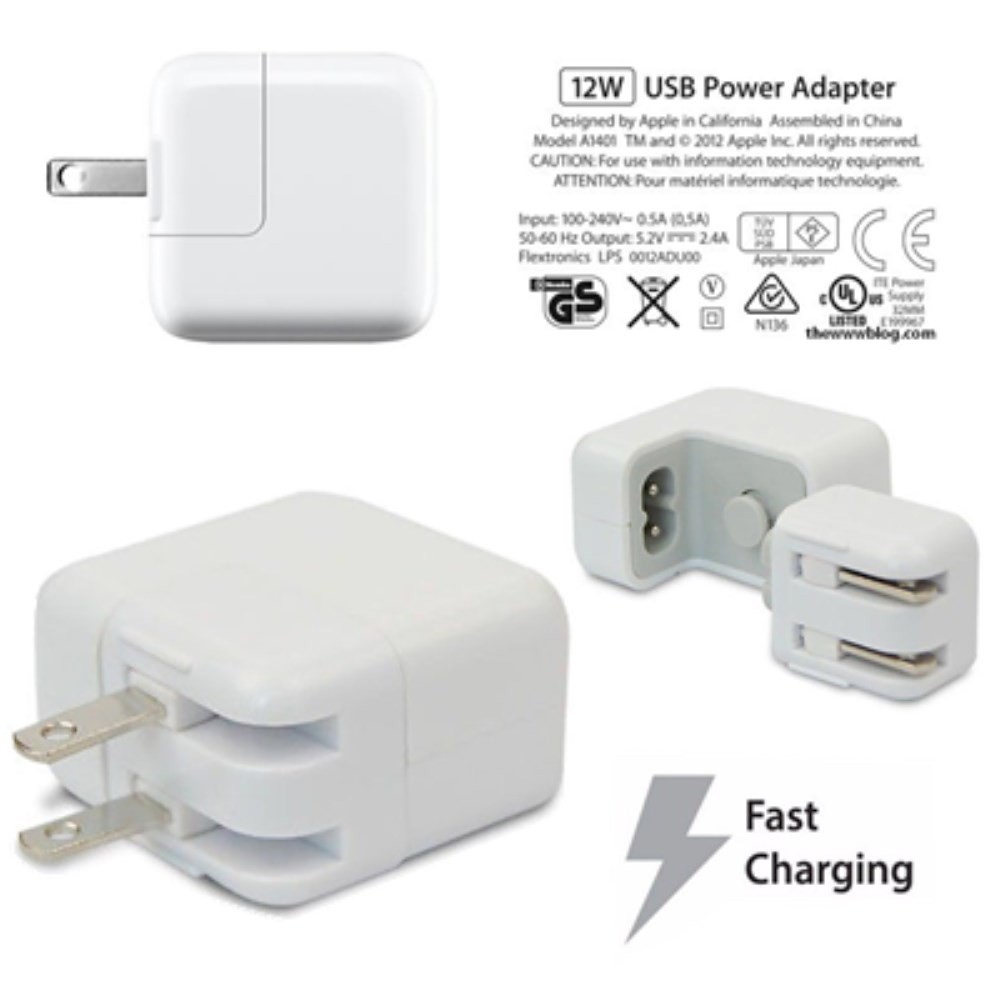 Brand New Genuine OEM Apple 12W USB Power Adapter for iPads MD836LL//A