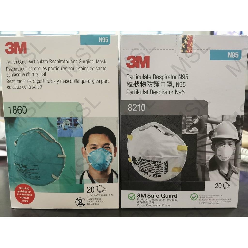 3m N95 หน้ากากช่วยหายใจ 1860 8210