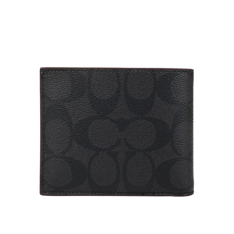กระเป๋าสตางค์ผู้ชาย✎❅【10.21-10.23 Double 11 ราคาเท่ากัน】กระเป๋าสตางค์ใบสั้นผู้ชาย COACH*