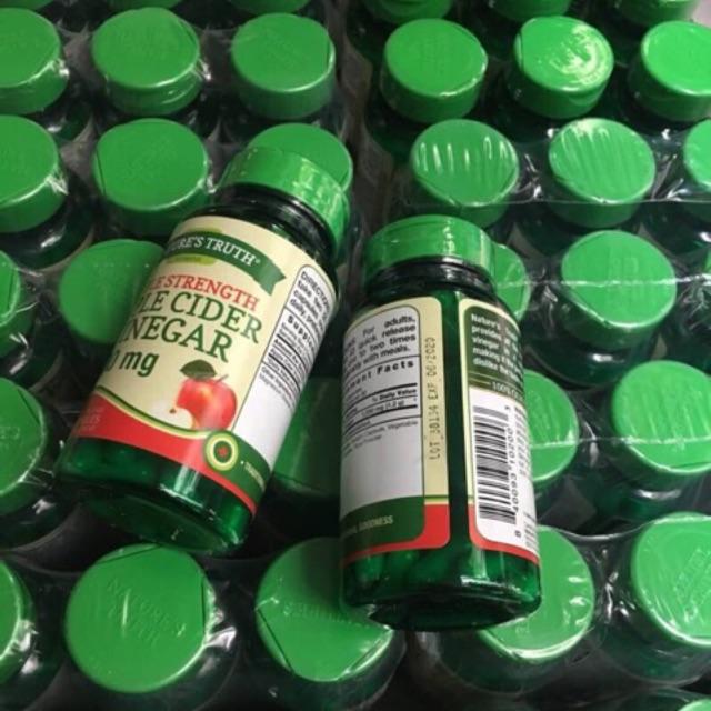 ลดคอเลสเตอรอล ลดน้ำตาลในเลือด ลดน้ำหนัก  Nature's Truth Triple Strength Apple Cider Vinegar Quick Release Capsules