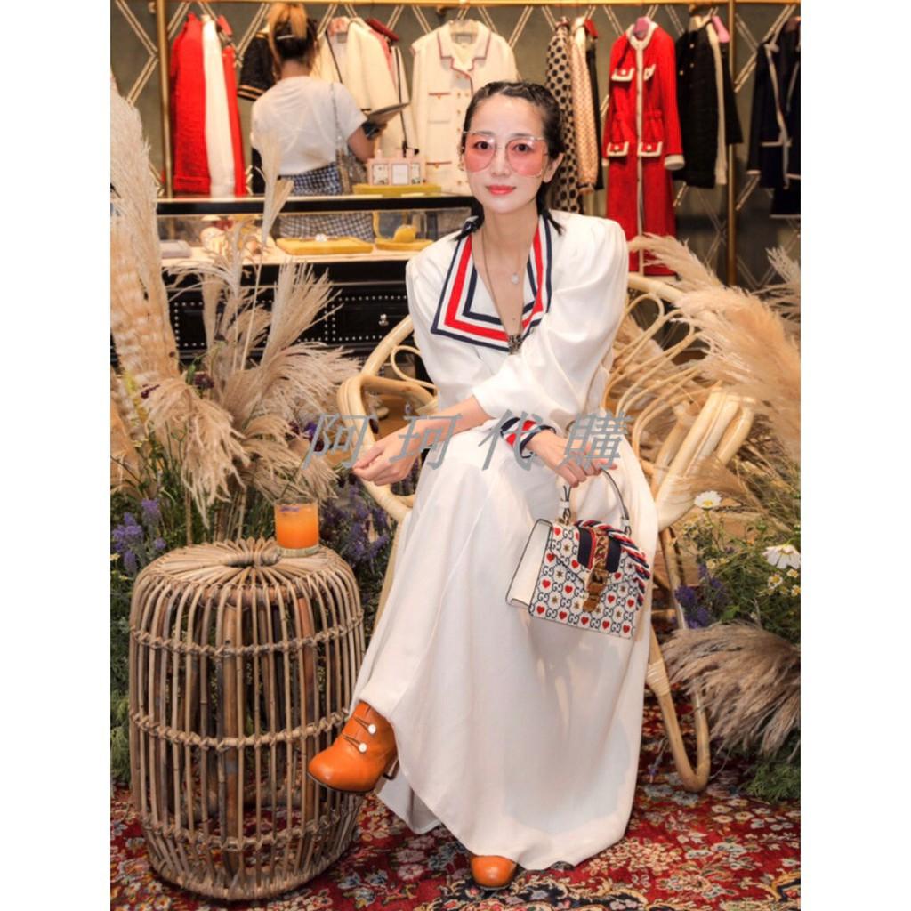 Gucci Gucci ผ้าซาตินสไตล์ที่กำหนดเองในวันวาเลนไทน์ ?? กระเป๋าหนังวัวชั้นหนึ่งสีกรมท่ากระเป๋า Dionysus กระเป๋ากุชชี่กระเป