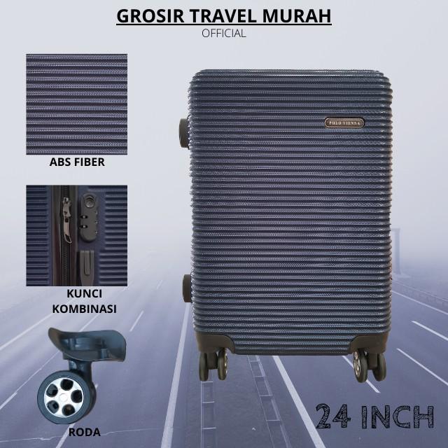 กระเป๋าเดินทางไฟเบอร์ 010 Size 24 นิ้ว Abs หมุนได้ 4 องศา 360 องศา