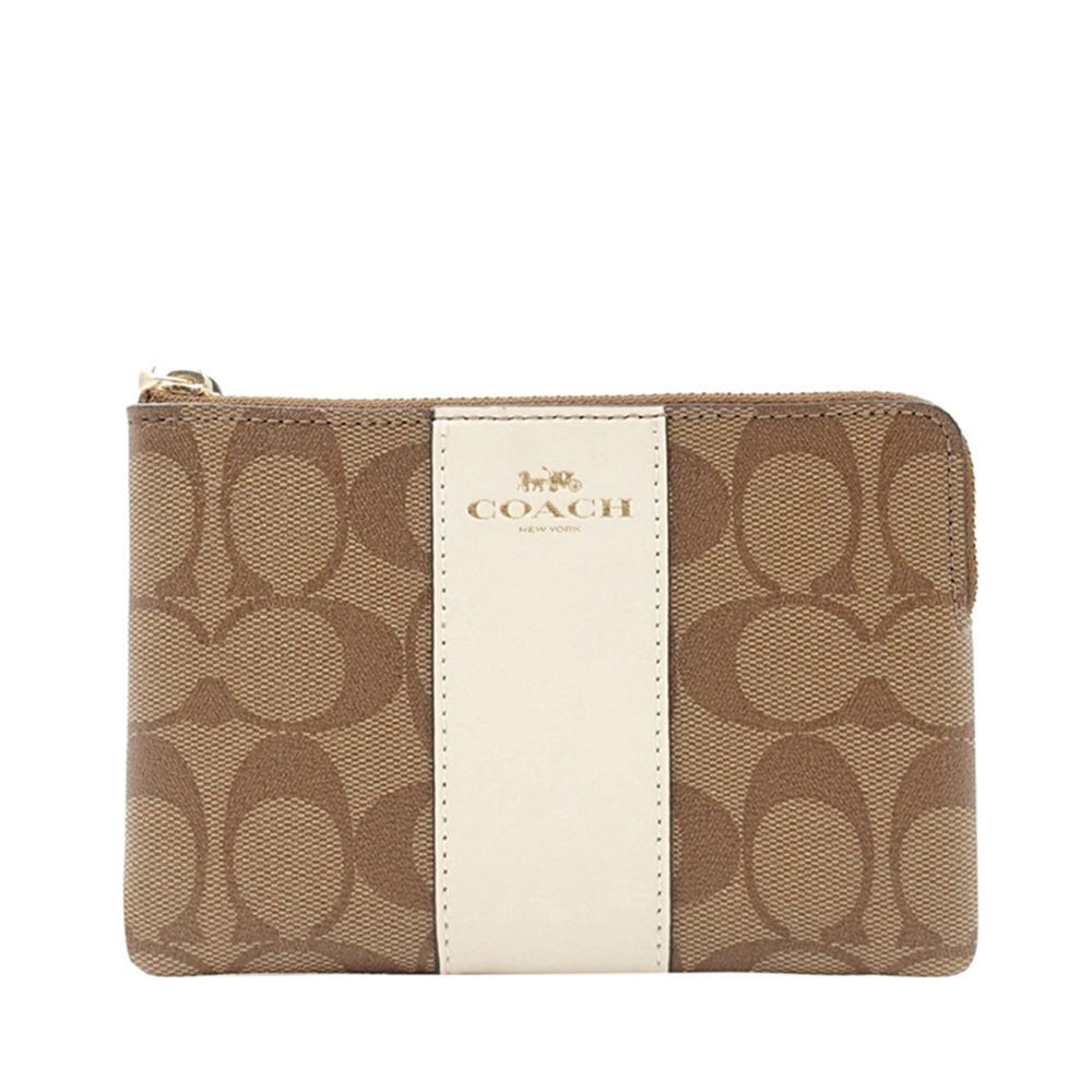 ☍►▦แท้ ไดเร็กเมล Coach Coach จดหมายคลาสสิกของผู้หญิง Presbyopia ซิป กระเป๋าสตางค์ใบสั้นขนาดเล็กและใช้งานได้จริง