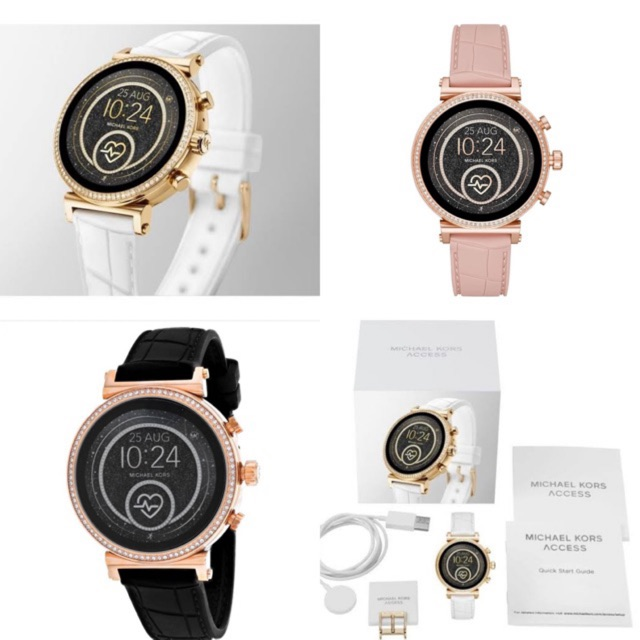 MICHAEL KORS Access Gen 4 Sofie Rose Gold-Tone and Embossed Silicone Smartwatch มี3สีให้เลือก