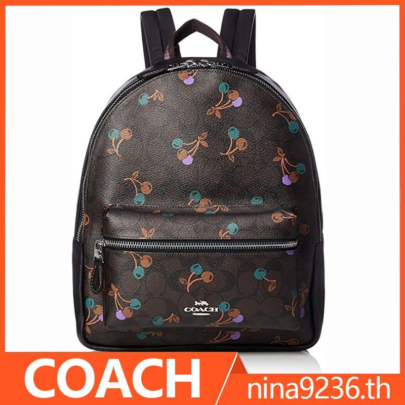 coach แท้ กระเป๋าเป้ F66881 F31372 เป๋าเป้ กระเป๋าเป้ผู้หญิง/ กระเป๋าเป้สะพายข้างผู้หญิง /กระเป๋าเป้เดินทาง ผู้หญิง
