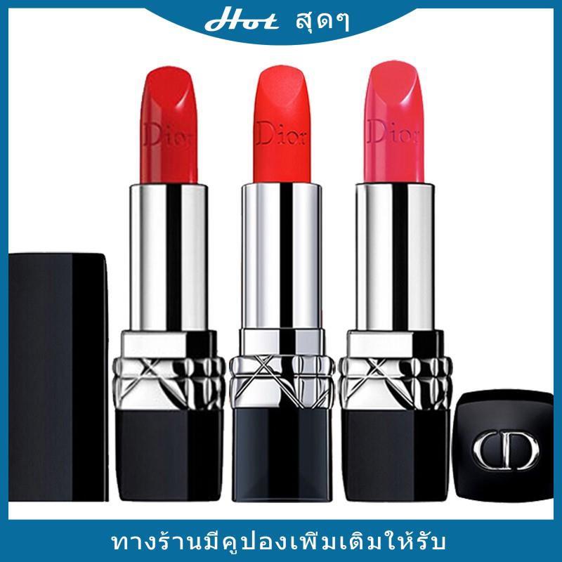 ลิปสติก Dior Lip Glow Rouge Dior Matte Lipstick Couture Colour Comfort and Wear Lipstick, 999 ลิปสติกดิออร์ ลิปdiorลดพิเ
