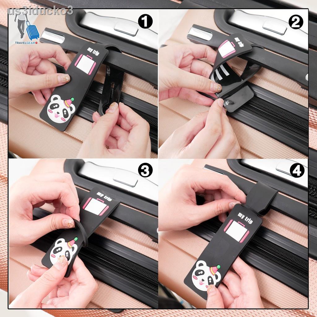 ผ้าปิดตาTravelgear24 แท็กกระเป๋า ป้ายติดกระเป๋าเดินทาง Luggage Bag Name Tag - A0700