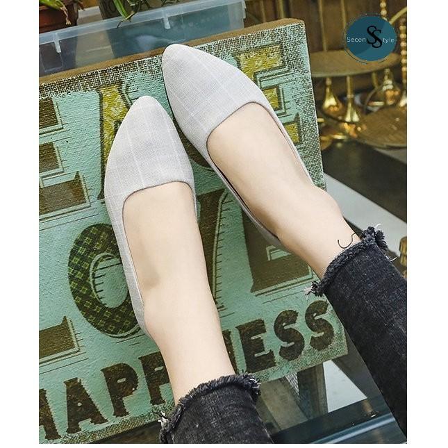 ❤️เปิดส้น รองเท้าโลฟเฟอร์ รองเท้าหัวแหลม รองเท้าแฟชั่นผู้หญิง คัชชู มีไซส์ รองเท้าคัชชู ส้นเตี้ย รองเท้าแฟชั่น งานดี