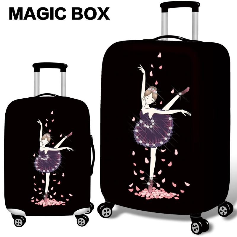 ผ้าคลุมกระเป๋าเดินทาง หนากระเป๋าเดินทางกระเป๋าเดินทางสำหรับกรณีใช้ 19 ''- 32'' ยืดหยุ่นสมบูรณ์แบบ