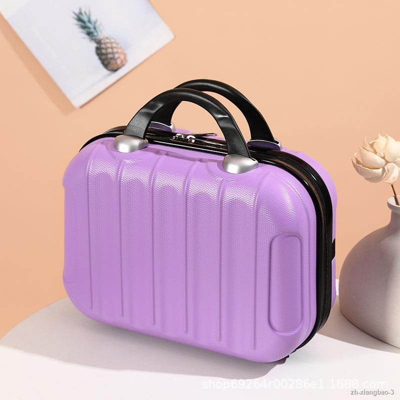 กระเป๋าเดินทางล้อลากคุณภาพสูงสำหรับเดินทางธุรกิจสำหรับผู้หญิง ขนาด 23*14*32 ซม. 14 นิ้ว