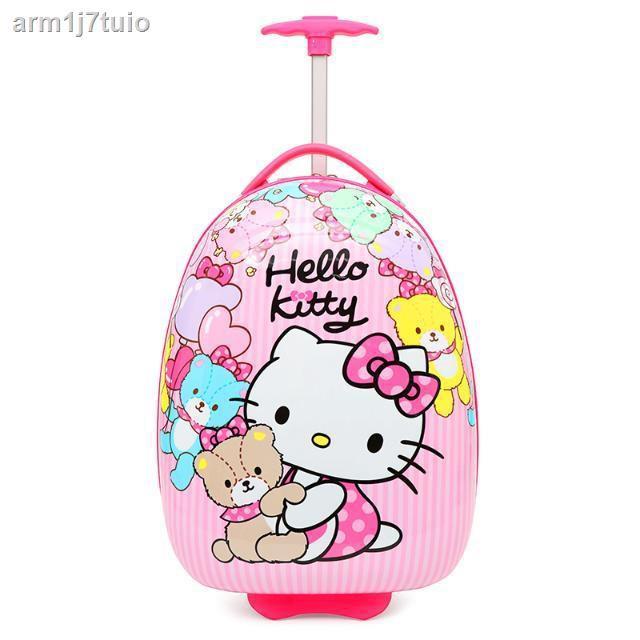 กระเป๋าเป้﹊❇◄กระเป๋าเดินทางสำหรับเด็ก, กระเป๋าใส่รถเข็นนักเรียนการ์ตูนเจ้าหญิงสำหรับเด็ก, กระเป๋าเดินทางล้อลากสากลหญิง