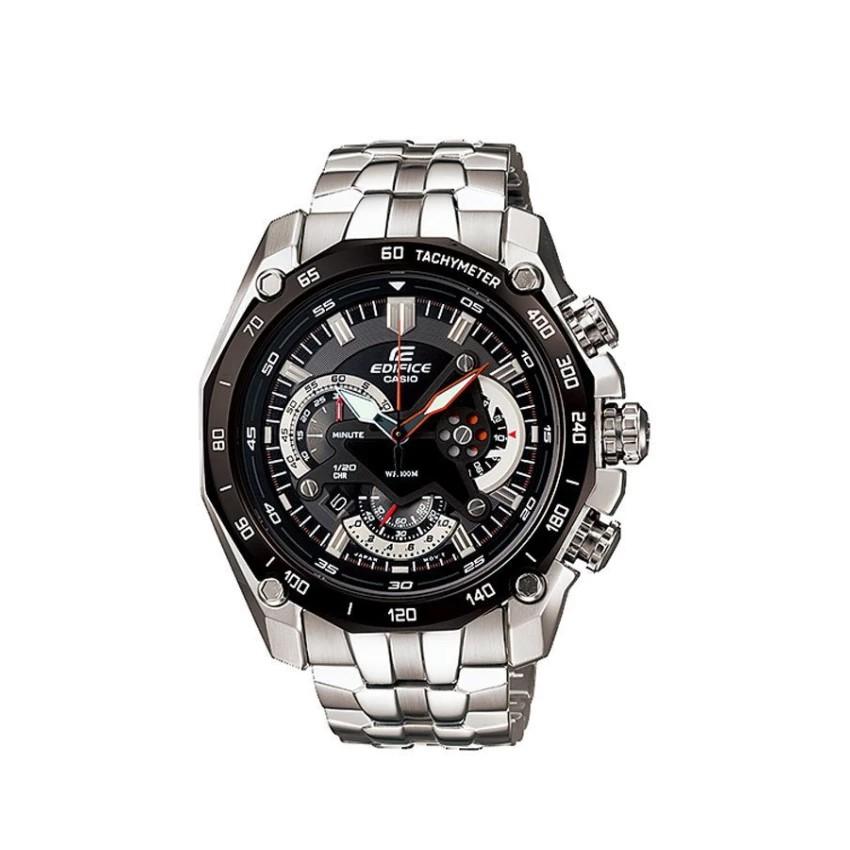 Casio นาฬิกาข้อมือ Edifice Chronograph สายสแตนเลส รุ่นEF-550D-1A -Silver/Black