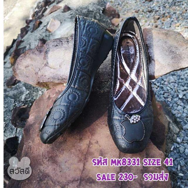 รองเท้าคัชชูสีดำ พื้นนุ่ม ทรงสวย