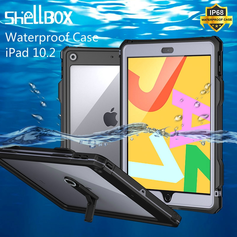 Apple iPad 10.2 IP68 Waterproof Case / 360° full Protection with Pencil Holder TPU Cover for iPad 7 7th Generation 10.2