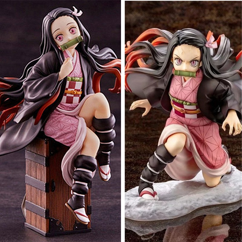 Anime Figure Model-Toys Gifts Pvc-Collection Demon Slayer Kimetsu Nezuko Tanjirou-Zenitsu
