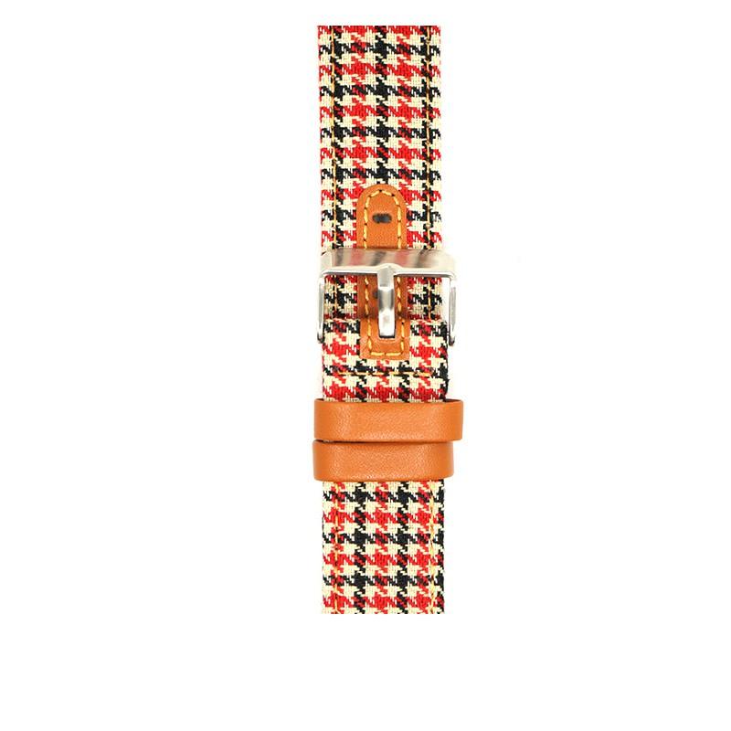 applewatch6 เข็มขัด∋iserisewatch เหมาะสำหรับสาย Apple Watch houndstooth applewatch 6/5 / 4SE แสดงถึงผืนผ้าใบที่สร้างสรร