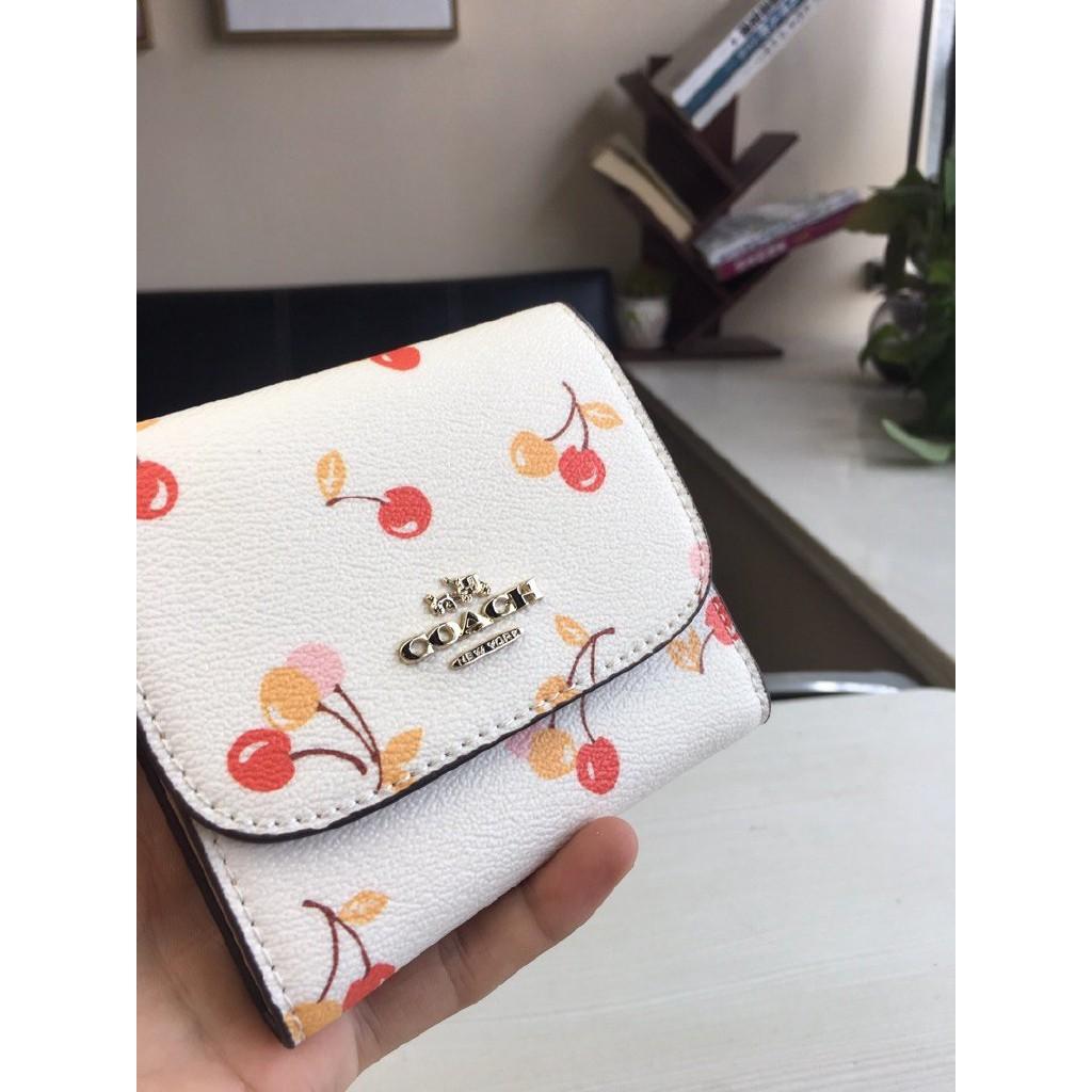 Coach แท้ F25974 กระเป๋าสตางค์ผู้หญิง * กระเป๋าเงิน * กระเป๋าตัง * กระเป๋าสตางค์ใบสั้น