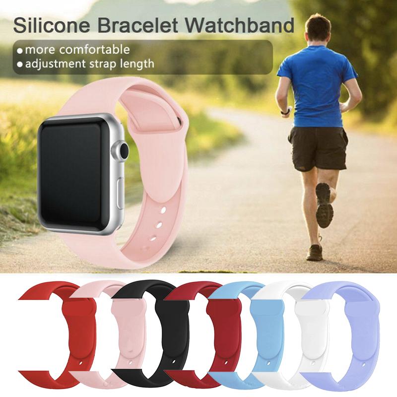 Appleสายรัดข้อมือ สาย Apple Watch Series 1/2/3/4 Iwatch Applewatch สายนาฬิกาสายยาง สายรัดข้อมืออัจฉริยะ สายคล้อง สายนาฬิกาข้อมือซิลิโคน สายรัดข้อมือ