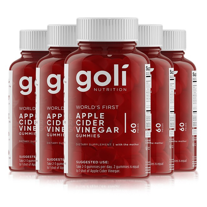 5 กระปุก/bottles x Goli Apple Cider Vinegar Gummies PRE-ORDER