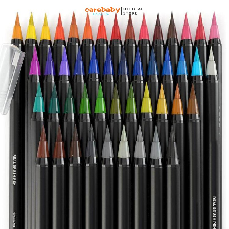 Set of 20 Real Brush Pens Water Coloring Brush Pens for Coloring Books Comic Calligraphy Gift for Artists