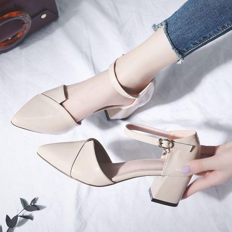 รองเท้าส้นสูง หัวแหลม ส้นเข็ม ใส่สบาย New Fshion รองเท้าคัชชูหัวแหลม  รองเท้าแฟชั่นรองเท้าผู้หญิงรองเท้าส้นสูงผู้หญิงส้น