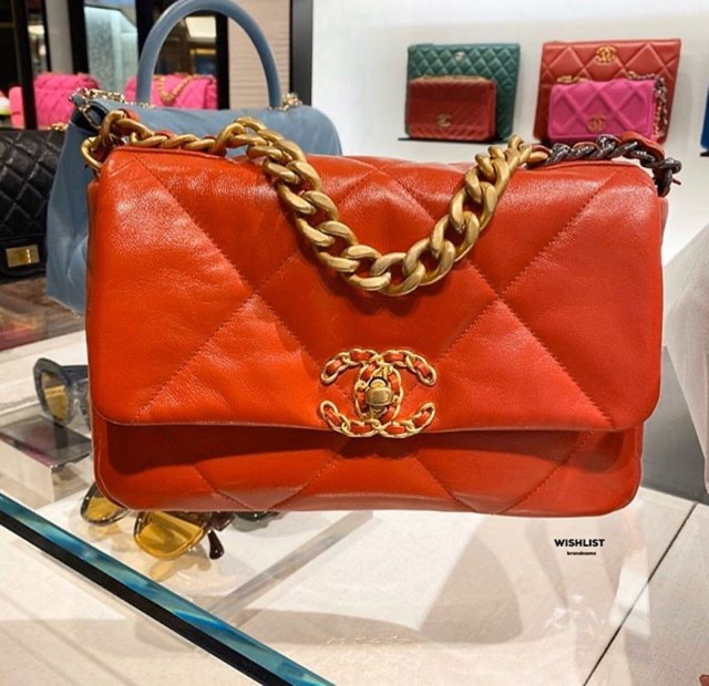 New chanel 19 flap bag 26 red holo29