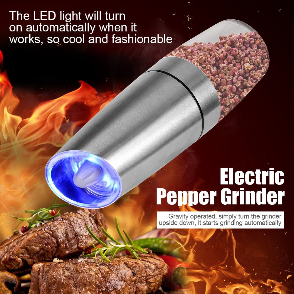 Gravity Pepper Grinder Automatic Stainless Steel Salt Pepper